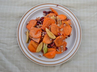 Persimmon Pomegranate Dessert