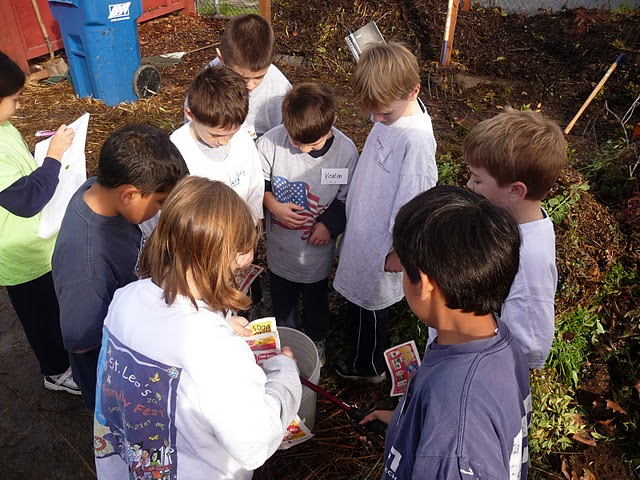 Students in the outdoor classroom