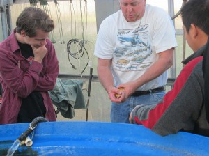 Fish Expert Cal Hansen teaches how to transfer and release fish