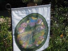 Banner in the garden