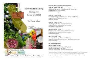 Native Edible Eating Class Schedule and Flyer
