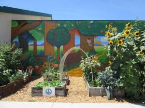 school garden, built 3 years ago