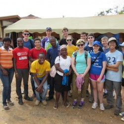 AFS volunteers, Yale band volunteers,  and UCC students