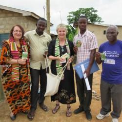 Deborah,Godfred,Alrie,Nanang and Dr. Kofi