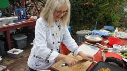 Chopping lemongras