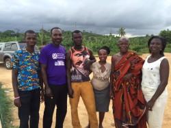 Green club members, Kwame, Faustina, NANA AKWA AND Victoria